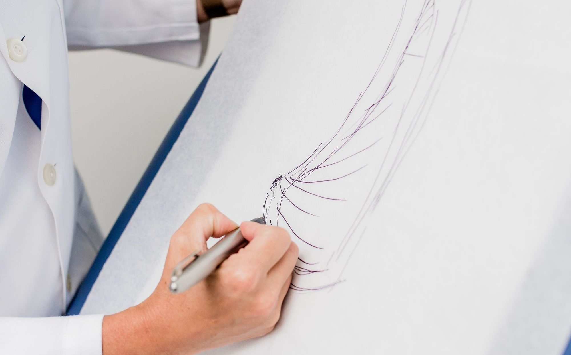 Dr. Spiegel Sketching a Breast
